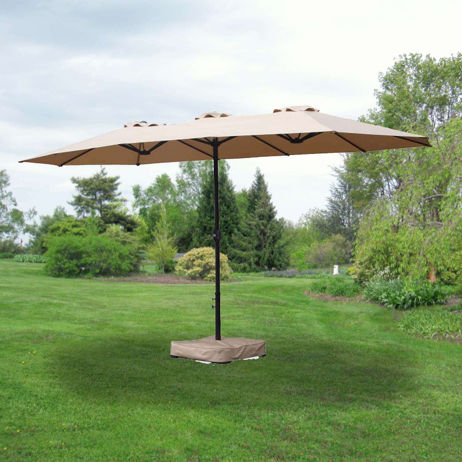 Garden Winds Replacement Canopy for the 15ft Triple Umbrella, 350
