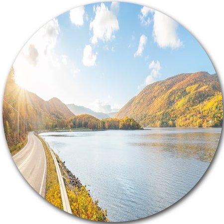 Design Art 'Stunning Autumn Mountains Canada' Photographic Print on Metal