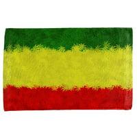 Rasta Pot Leaf One Love Tie Dye All Over Hand Towel