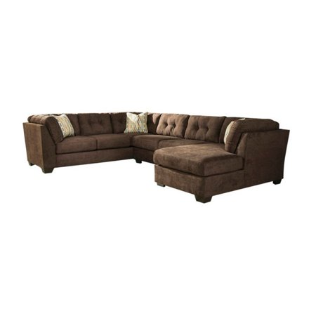 Incredible Ashley Delta City 3 Piece Right Sectional In Chocolate Beatyapartments Chair Design Images Beatyapartmentscom