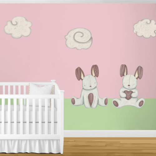 My Wonderful Walls Bunny Rabbits and Cloud Wall Stickers