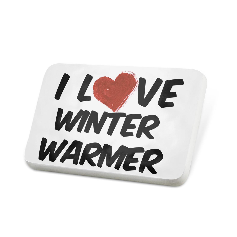 Porcelein Pin I Love Winter Warmer Beer Lapel Badge – NEONBLOND