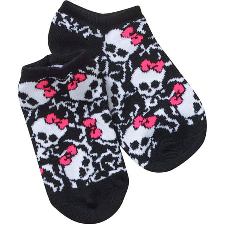 Monster High No Show Socks, 5 Pack (Little Girls & Big Girls) Toy Machine Monster Socks