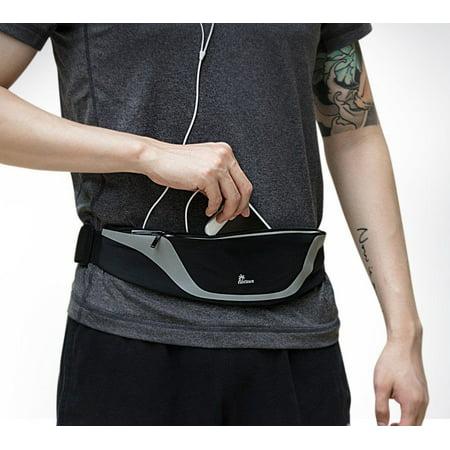 Nacuwa Running Belt Adjustable Waist Pack Waterproof Runners Belt for