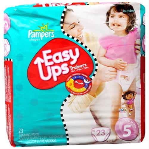 Pampers Easy Ups Training Pants Girls 23 Each [4 packs per case] (Pack of 3)