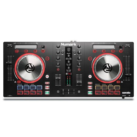 - Numark Mixtrack Pro 3 | USB DJ Controller with Trigger Pads & Serato DJ Intro Download (Includes Built-In Sound Card)