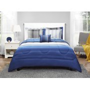 Mainstays Blue Ombre Bed in a Bag Bedding Set