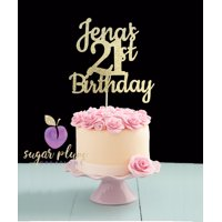 Custom happy 21st Birthday Cake Topper