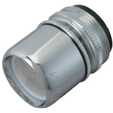 Brass Dual Aerator - Faucet Aerator, Swivel, Chrome-Plated Brass, Dual Thread, 55/64 & 15/16-In. x 27-Thread