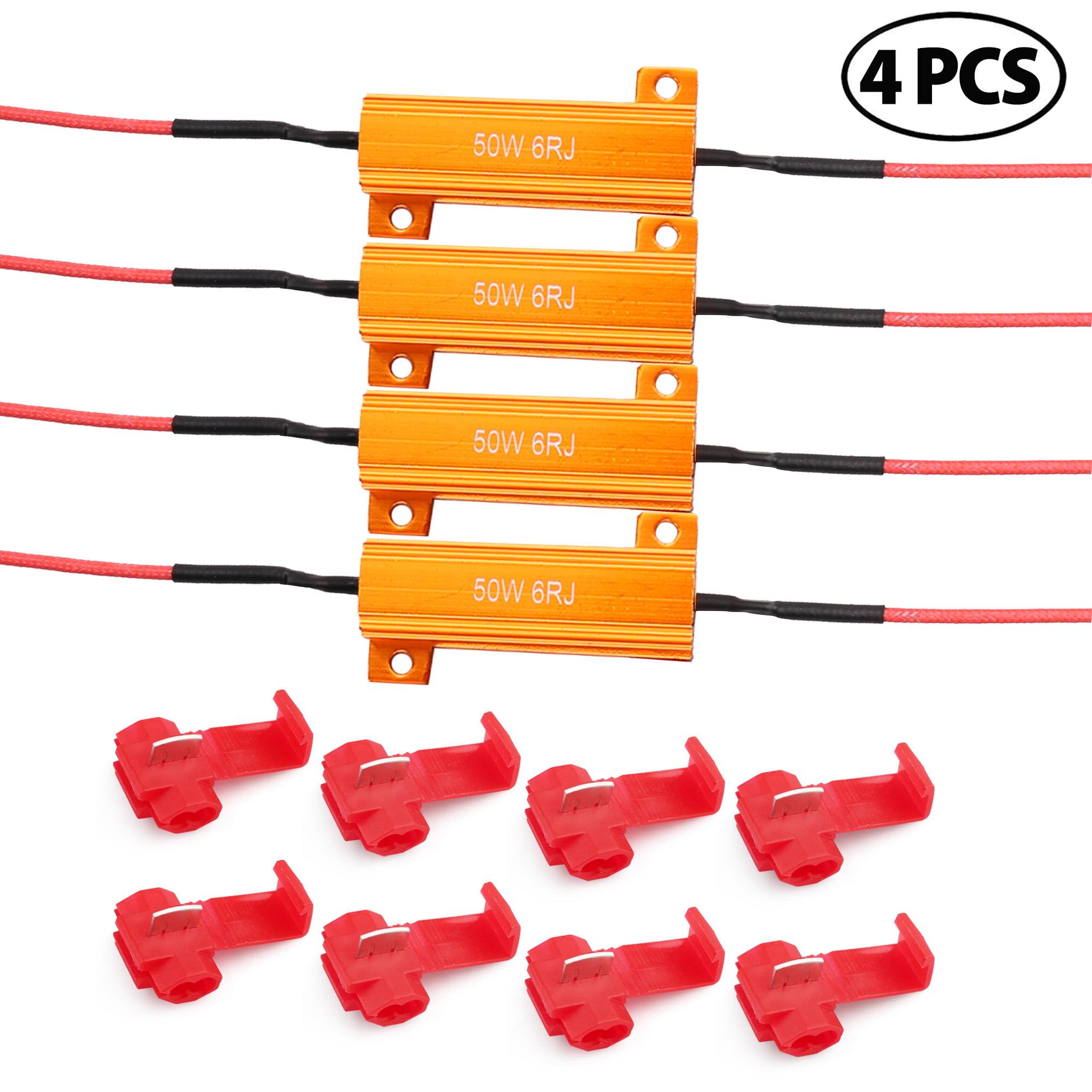 8PCS 50W 6ohm LED Load Resistors Load Resistors for Flickering LED Turn Signal Light /& LED License Plate Lights /& DRL