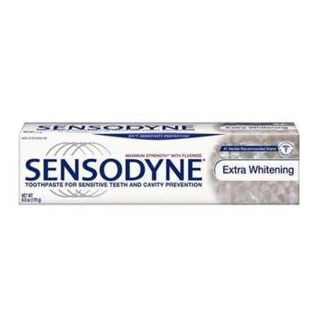 Sensodyne Dentifrice pour les dents sensibles et la protection, Cavity blanchiment supplémentaire (4 oz pack de 6)