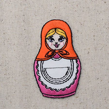 Nesting Dolls - Matryoshka - Russian Doll - Iron On Embroidered Applique Patch (Iron Dolls)