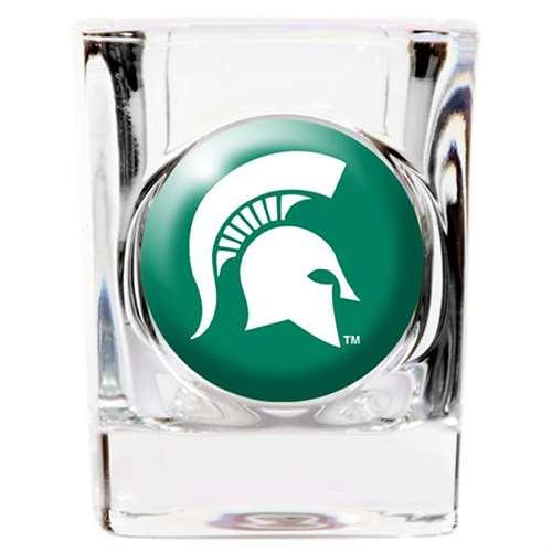 Michigan State Spartans Shot Glass - Square 2oz