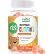 Kids Multivitamin Gummies Daily Formula - Natural Complete Extra Strength Supplement with Vitamins A, C, E, B6, B12, Zinc - Fresh Strawberry Gummy for Boys and Girls, Non GMO - 60 Gummies
