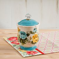 """The Pioneer Woman Rose Shadow Canister with Acrylic Knob, 8.25"""""""