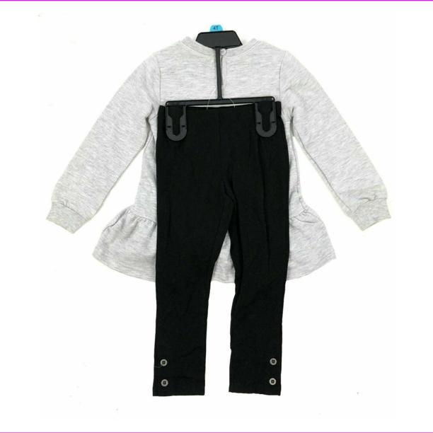 Calvin Klein Calvin Klein Girl S Pull On Closure 2 Piece Set Ruffled Top And Legging 5 Heather Gray Walmart Com Walmart Com