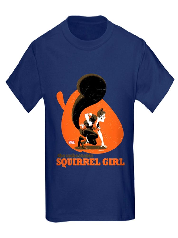 CafePress - Squirrel Girl Orange - Kids Dark T-Shirt