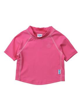 i play. Baby and Toddler Boy or Girl Unisex Short Sleeve Rashguard Swim Shirt, UPF 50+