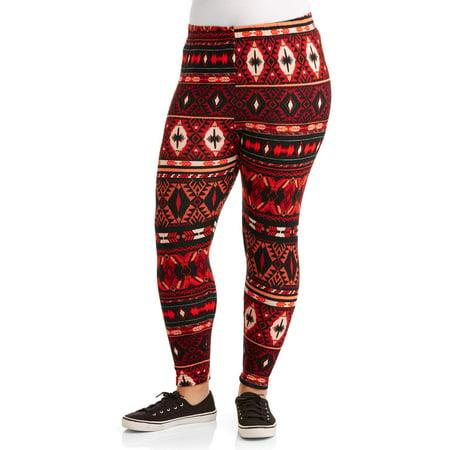 d10b161feba5c Faded Glory - Women's Plus Fleece Lined Novelty Printed Legging 2 ...