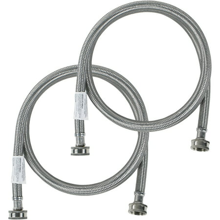 Certified Appliance WM60SS2PK Braided Stainless Steel Washing Machine Hose, 2pk (5