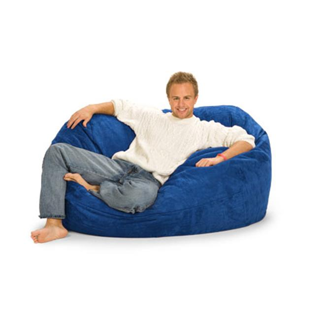 RelaxSacks 5OV-MS008 5 ft. RelaxSack Lounger - Microsuede Royal Blue