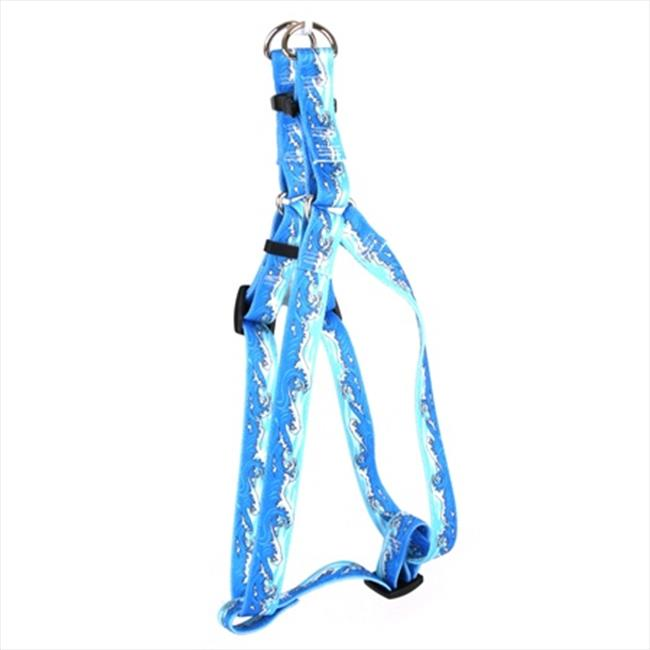 Yellow Dog Design SI-MWB103L Mystic Waves Blue Step-In Harness - Large
