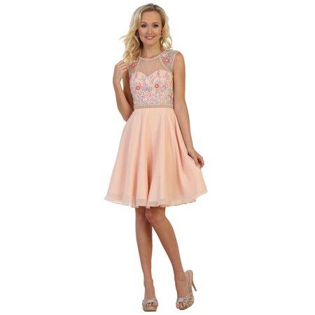 8e89ff1278 May Queen - SALE! CUTE GRADUATION FLOWY SHORT DRESS - Walmart.com