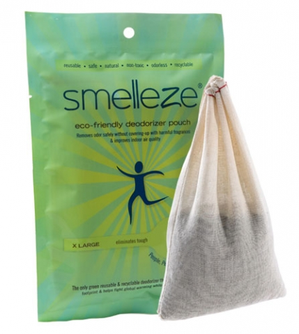SMELLEZE Reusable Closet Smell Removal Deodorizer Pouch: Kills Clothing Odor Without Fragrances in 200 Sq. Ft.