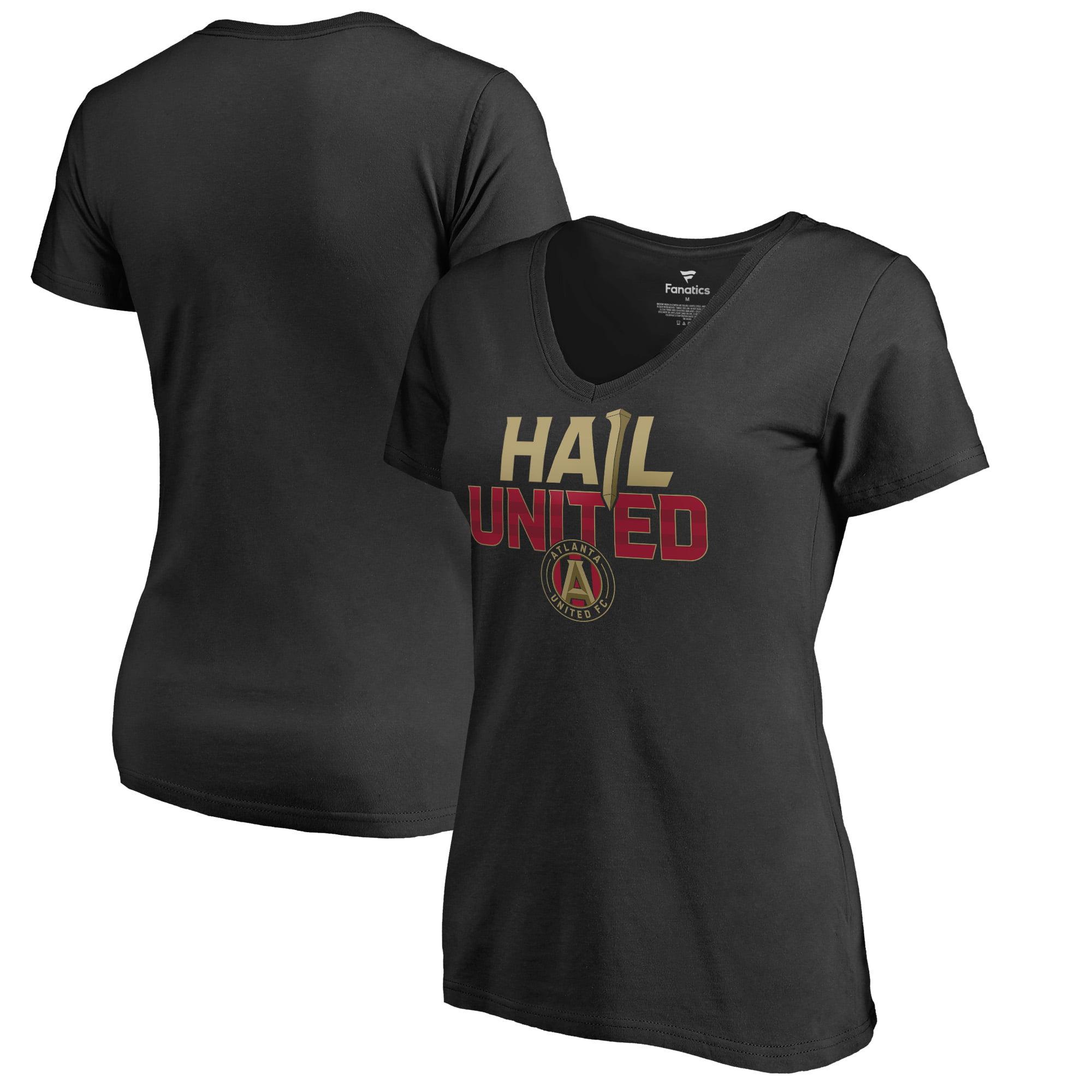 Atlanta United FC Fanatics Branded Women's Hometown Collection Hail United V-Neck T-Shirt - Black