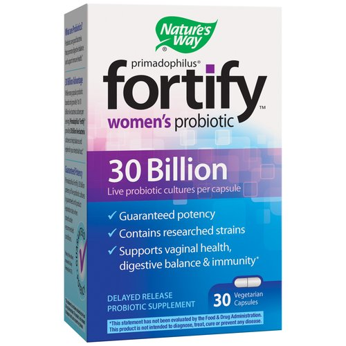 Nature's Way Fortify Women's Probiotic Delayed Release Probiotic Supplement Vegetarian Capsules, 30 count