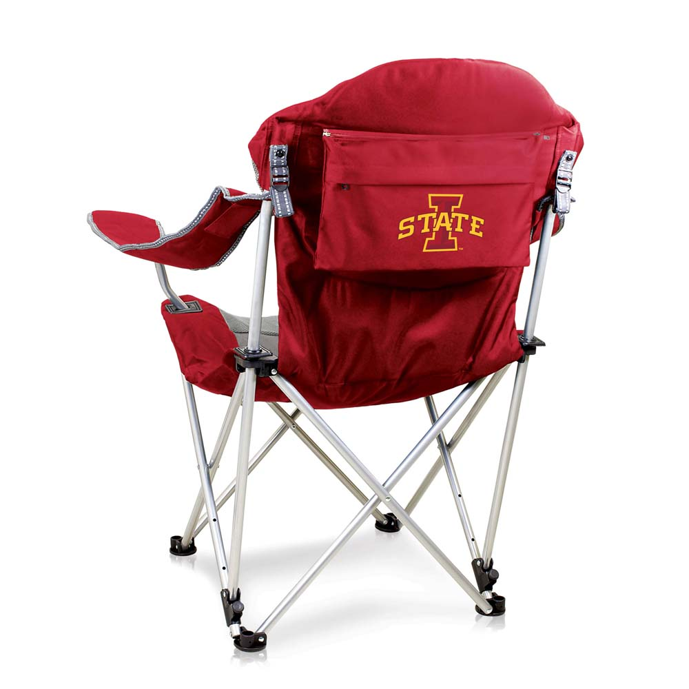 Iowa State Reclining Camp Chair (Red)
