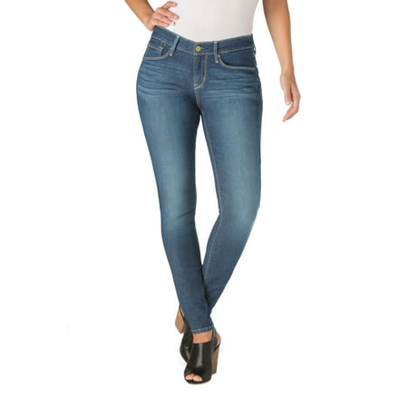 Signature by Levi Strauss & Co. Women's Curvy Skinny (High Top Chuck Taylors With Skinny Jeans)