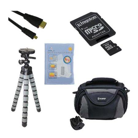 Samsung Galaxy NX Digital Camera Accessory Kit includes: N66520 Memory Card, GBFLK58 Filter/ Adapter, HDMI6FMC AV & HDMI Cable, ZELCKSG Care & Cleaning, GP-22 Tripod, SDC-26 Case ()