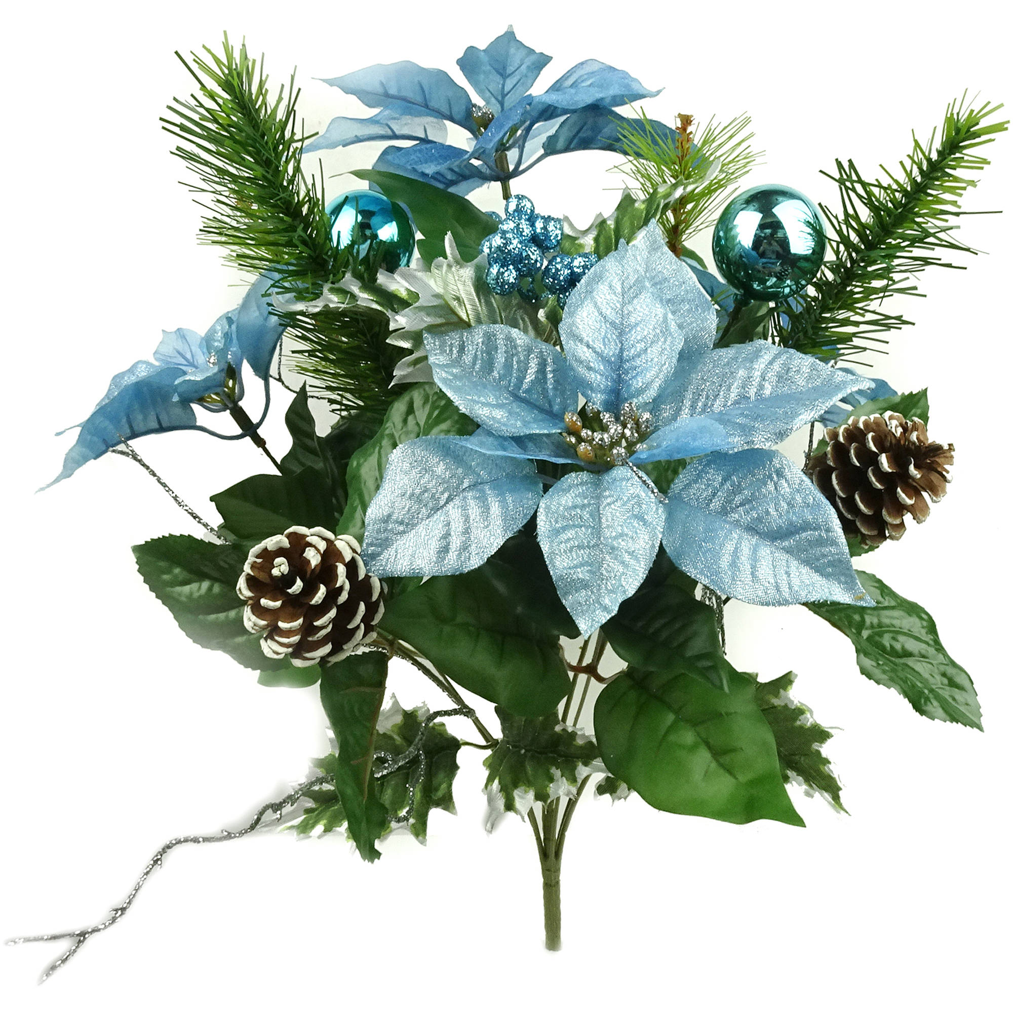 Blue Poinsettia Mixed Bouquet