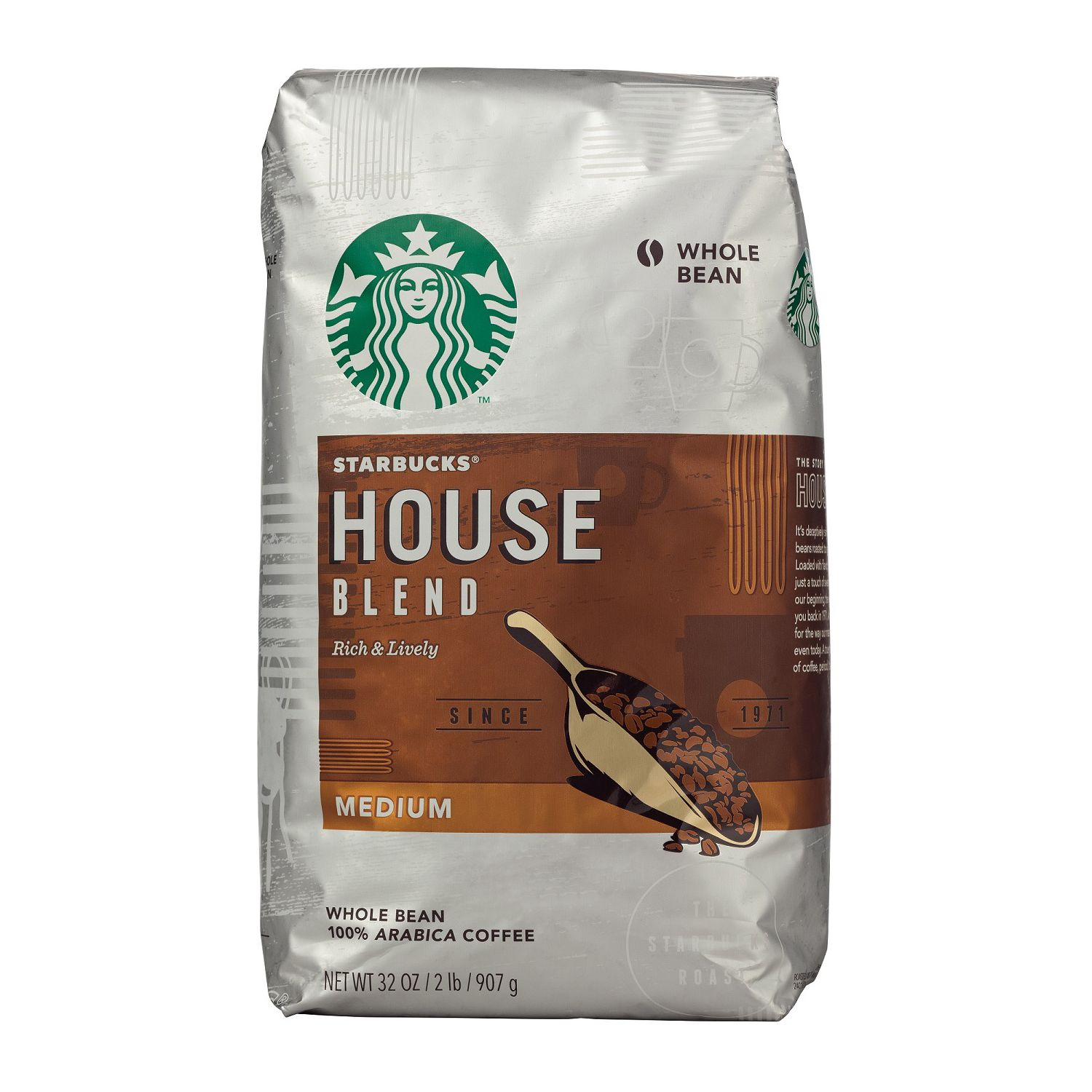 Starbucks House Blend Whole Bean Coffee - 32oz