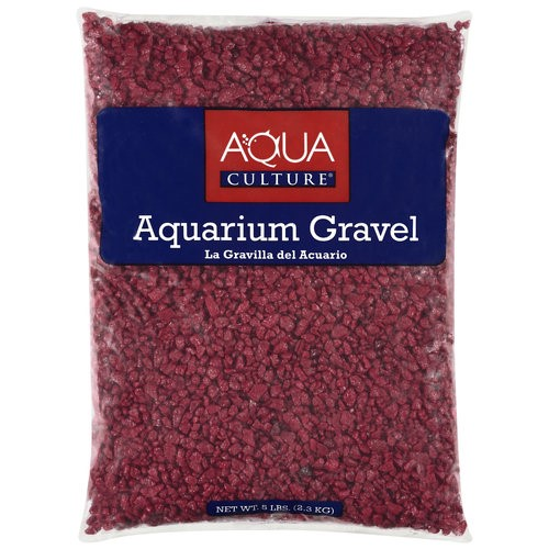 Aqua Culture Red Chip Aquarium Gravel Fish & Aquatic Pet Gravel, 5LB, Red