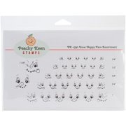 Peachy Keen Stamps Clear Face Assortment 32/pkg-snow Happy