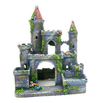 Penn plax medieval castle of germany aquarium ornament for Walmart fish tank decorations