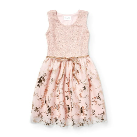 Allover Butterfly Easter Dress (Little Girls & Big