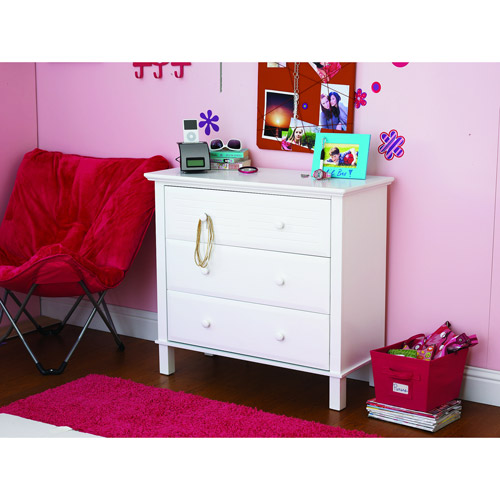 your zone zzz place to be 3-drawer dresser, white