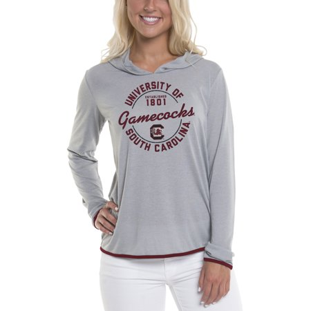 South Carolina Gamecocks Crew Sweatshirt (Women's Gray South Carolina Gamecocks Mason Block Pullover Hoodie)
