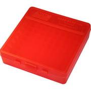 "MTM P-100 FLIP-TOP PISTOL AMMO BOX 1.3"" OAL RED POLY"