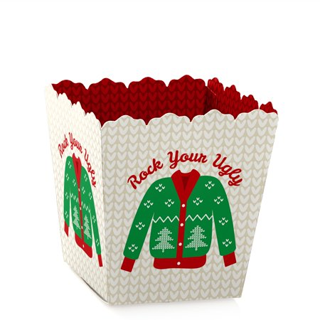 Ugly Sweater - Party Mini Favor Boxes - Holiday, Christmas or Office Party Treat Candy Boxes - Set of 12
