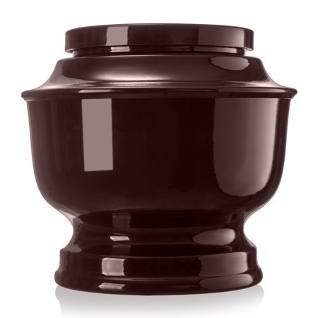 Cremation Urn for Human Ashes - Affordable Funeral Adult Urn for Ashes Variety of Colors available Adult Classic Urn with velvet bag (Brown)