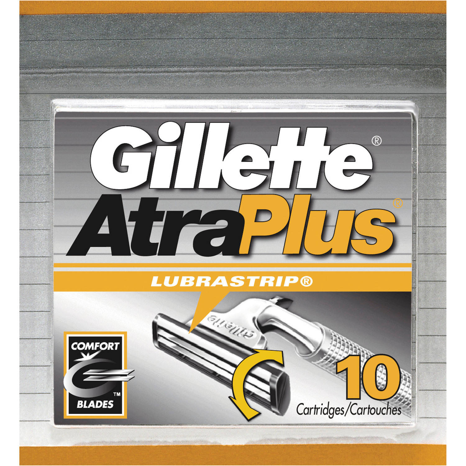Gillette Atraplus Cartridges With Lubrastrip, 10 count