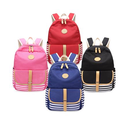 Canvas Bookbags School Backpack Classic Schoolbag for Teens Girls](Classic School Girl)