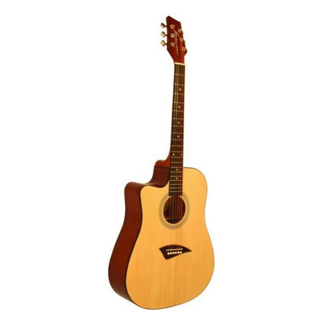 Kona K1L Left-Handed Acoustic Dreadnought Cutaway Guitar ...
