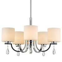 Golden Lighting Harland Mini Pendant in Chrome with Clear Glass