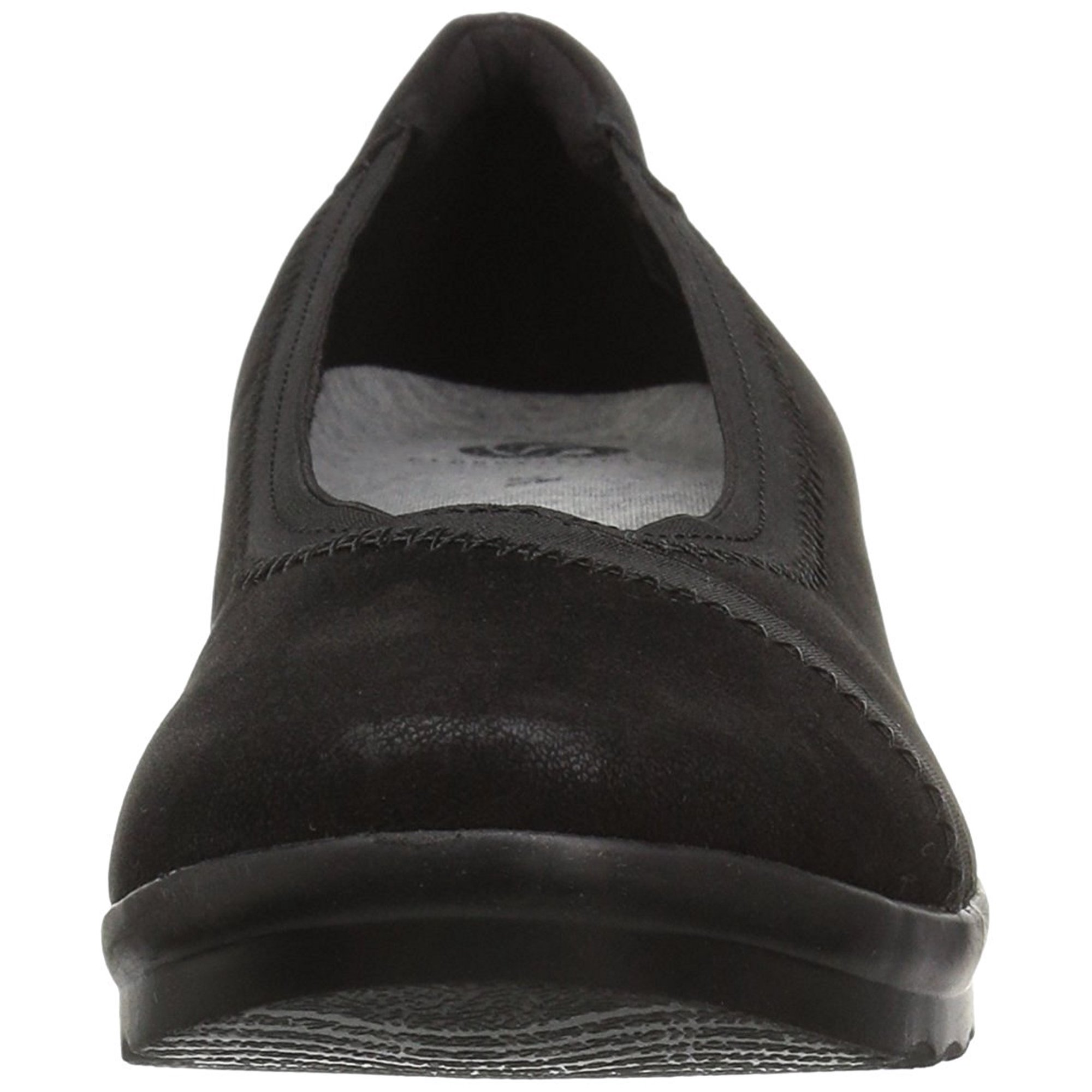 3124ca16a43 CLARKS Womens Caddell Dash Leather Closed Toe Wedge Pumps