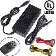 Universal Hoverboard Charger - for 42V Self Balancing Scooter, UL Listed, 2A Output, Mini 3-Prong Connector